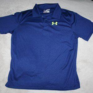 UNDEr ARMOUR Boy's Short Sleeve Top XL 12 Blue